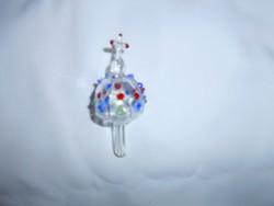 Különleges bütykös üveg  dugó-tetején kereszt