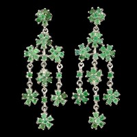 Valodi Termeszetes Smaragd 925 Ezust Fulbevalo