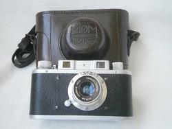 MOM Momikon fényképezőgép saját tokjában Budapest 1954-56