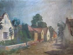 Élesdy István (1912-1987) festmény  utcakép