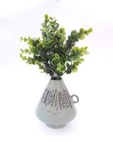 Német retro kerámia váza - mentazöld színben - retro iparművész kerámia