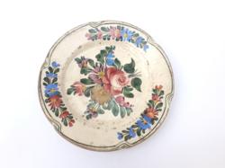 Körmöcbányai népi mintás süteményes tányér - ritka dekorral - desszertes kistányér