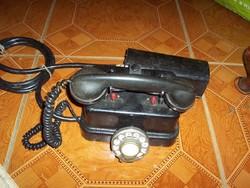 Antik telefonközpont eladó+ egy kagyló ehhez vagy másik telefonhoz pótlásnak