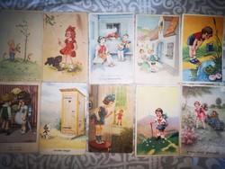 Rajzolt képeslapok 10 db