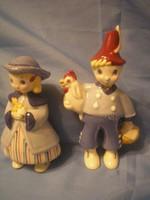U4 Art deco Majolika Angol Pottery szoborpáros ritkaság