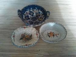 Kézzel festett kerámia gyürü tartó kis tálkák