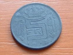 BELGIUM BELGES 5 FRANK 1945 WW II CINK III.LEOPOLD #