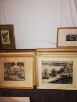 1,-Ft Rézkarc gyűjtemény hagyatékból egyben eladó! 27 db