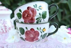 Villeroy kézzel festett csésze ,pohár ,bögre