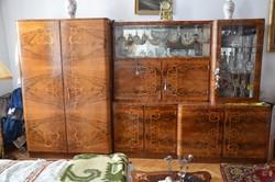Intarziás Hálószoba Garnitúra (szekrény,ágy,ágyneműtartó,pipere asztal)
