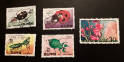 Bélyegek Koreából  5 db /1990 és 1981/