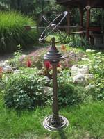 Szép-nagy öntöttvas napóra-kerti dísz