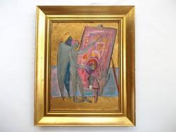 Kondor Béla Festő Angyal című festménye