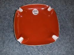 Hollóházi porcelán hamutál Amigo café Bar 17*17 cm (0-1)