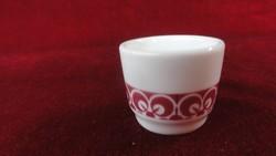 LILIEN porcelán Ausztria, pálinkás kupica halvány bordó csíkkal.