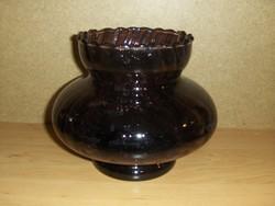 Retro lila öblös üveg váza (7/d)