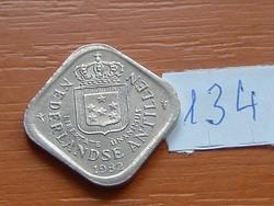 HOLLAND ANTILLÁK 5 CENT 1982 SZÖGLETES 134.