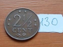 HOLLAND ANTILLÁK 2 1/2 CENT 1973 130.