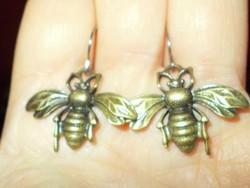 Ritkaság!! 3D-s Méhecske kézműves Fülbevaló