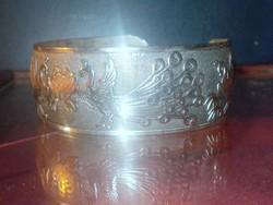 Páva mint.Tibeti Ezüst kézműves Karkötő