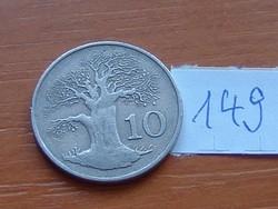 ZIMBABWE 10 CENT 1980 FA 149.