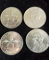 Négy darab Ezüst 200ft Deák 1994