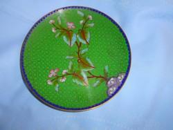 Rekesz zománc  (Cloissoné)  antik tál 16,5 cm