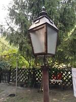 Régi utcai  gázlámpa