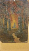 Ehning(?)János jelzéssel olaj/karton festmény