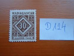 MADAGASCAR MADAGASZKÁR 30 C 1947 számjegyek TAXE  D124