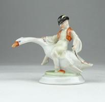 0X992 Herendi Ludas Matyi porcelán figura 7.5 cm
