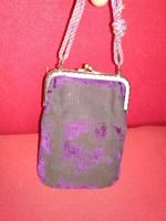 Antik báli kellék, kis tárcácska, mini retikül báli táncrend tartó ? antique mini handbag