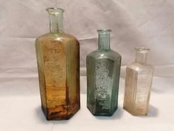 Régi gyógyszeres üveg palack sorozat
