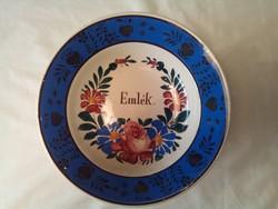 Apátfalvi emlék feliratos festett tányér (3)