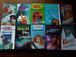 Evelyn Marsh könyvek, krimik:10 db csak egyben, mindössze 200,-Ft-os darabáron!