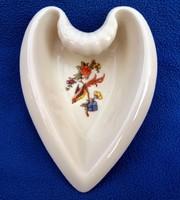 Antik Zsolnay szív alakú porcelán hamutál