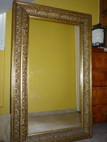 Antik aranyozott falitükör 84 x 135 cm