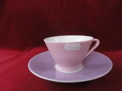LILIEN porcelán Ausztria, színes teáscsésze + alátét.