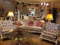Vintage, provance chippendale gyönyörű ülőgarnitúra, szalongarnitúra
