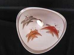 Wallendorf porcelán aranyozott hal díszítésű kínáló