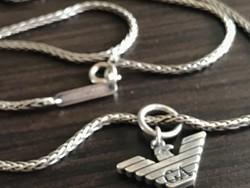 Armani Ezüst nyaklánc ezüst medállal
