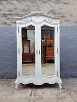 Ruhásszekrény,barokk szekrény,tükrös szekrény