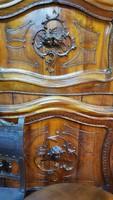 Restaurált eredeti bécsibarokk ágyak párban