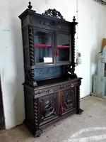 Antik reneszánsz vitrin-tálaló