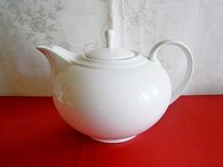 Nagyon szép Art Deco hófehér porcelán teás kanna, kancsó, kiöntő