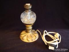 Üvegtestű elektromos petróleumlámpa