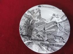 LILIEN porcelán Ausztria emlék hamutál, HINTERSTODER látképpel és felirattal.