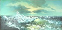 0W810 Curtis jelzéssel : Háborgó tenger