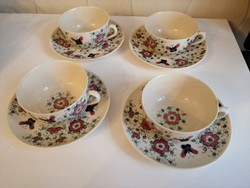Zsolnay pecs 4 darab hibatlan 1880 perfekt -- Teas---