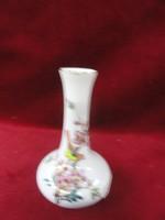 Kézzel festett, aranyozott váza madár motívummal. Magassága 11 cm.